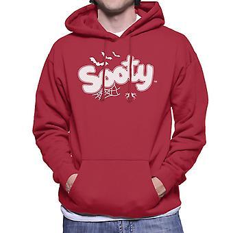 Sooty Halloween Glow In The Dark Logo Men's Hooded Sweatshirt