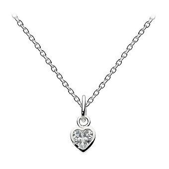 Dew sterling zilver Dinky kleine Cubic Zirconia hart hanger 9006CZ
