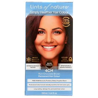 Tints of Nature Permanent Hair Color, 4CH Rich Chocolate Brown 4.4 Oz