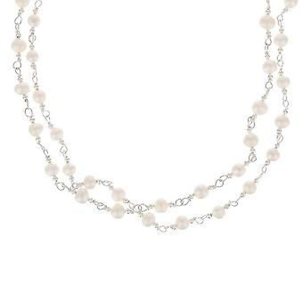 Silver necklace and pearls from White Culture '