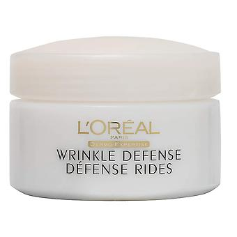 L'Oreal Paris Wrinkle Defense Anti-Aging Cream Day Moisturizer, with Soy Protein, 50 mL