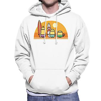 Despicable Me Minions Surfing Sunset Men's Hooded Sweatshirt