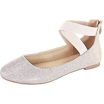 ANNA Womens Anna Dana Closed Toe Ankle Strap Slide Flats