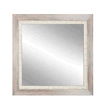 Weathered Beach Square or Diamond Framed Vanity Wall Mirror 32''X 32''