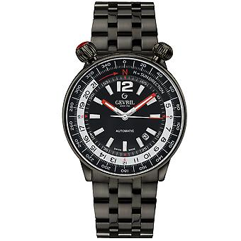 Gevril Men's Wallabout Black Dial Black PVD Watch