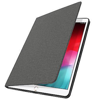Housse iPad Air 2019 et iPad Pro 10.5 Étui Folio Support Vidéo Aspect Chiné Gris