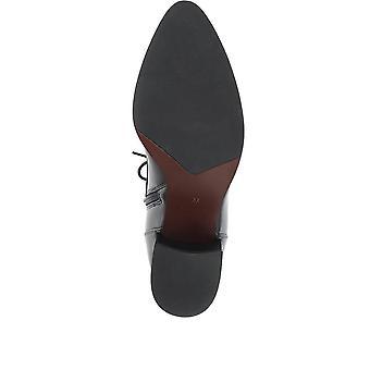 Jones Bootmaker Womens Grove läder heeled ankelstövlar