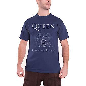 Queen Greatest Hits II Offisielle Menns Ny Blå T Skjorte