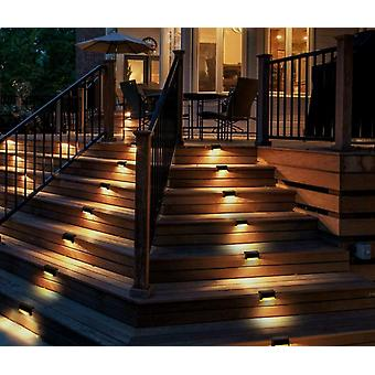 Fence Led Lamp Outdoor Pathway Patio Ip65 Waterproof Warm White Bright Durable