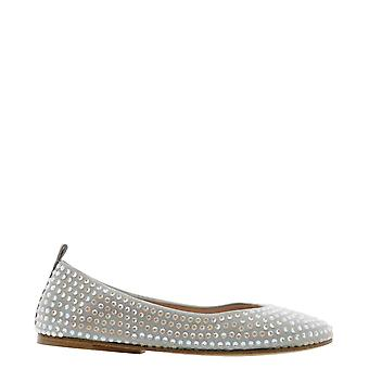 Eddy Daniele Es21600sasso Women's Grey Suede Flats