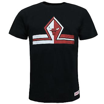 Mitchell & Ness Short Split Trad Tee Graphic Chicago Bulls T-Shirt CBU H55