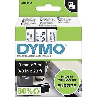 Etikettering tape DYMO D1 40914 Tape kleur: wit lettertype kleur: blauw 9 mm 7 m