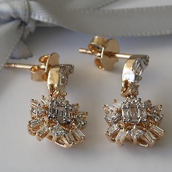 Boucle d'oreille June Petite 18K Or et Diamants
