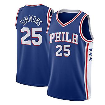 Philadelphia 76ers Simmons Loose Basketball Jersey Sport Shirts 3QY003
