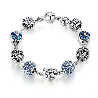 Bracelet de charme plaqué argent et bracelet