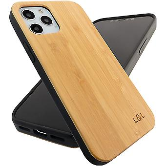 Wood Phone Case Bamboo Cover Compatible with iPhone 12 and iPhone 12 Pro
