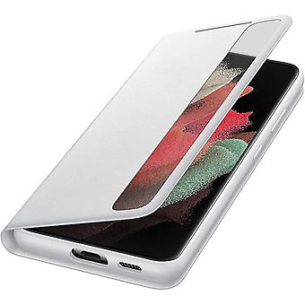 Official Samsung Galaxy S21 Ultra 5G Clear View Cover Case Flip Cover - Light Gray