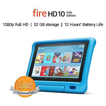 "Fire hd 10 kids edition tablet   10.1"" 1080p full hd display, 32 gb, blue kid-proof case"