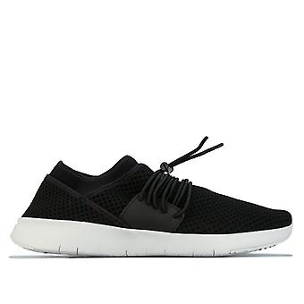 Women's Fit Flop Airmesh Lace Up Sneaker in Black