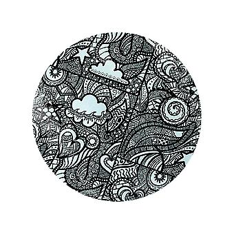 Grindstore Monochrome Elements Glass Chopping Board
