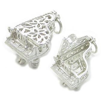 Opening Piano Sterling Silver Charm .925 X 1 Klaviere Musik Charms - 4404