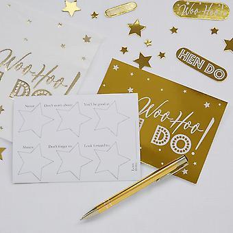 Woo Hoo Hen Do - Hen Party Advice Cards - 10 Pack