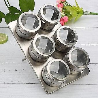 Magnetic Dustproof Visual Stainless Steel Seasoning Jar