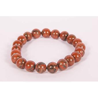 Red Jasper Yoga Bracelet For Crystal Healing & Meditation