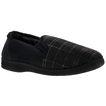 Knights Eric Mens Full Slippers Navy UK Size