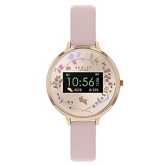 Radley Rys03-2008 Smart Series 03 Floral Rose Gold And Nude Leather Watch