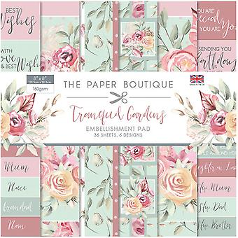 The Paper Boutique - Tranquil Gardens Collection - 8x8 Embellishments Pad