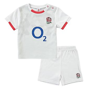 Englanti RFU Rugby Vauvan/Taapero t-paita & Shortsit set | Valkoinen | 2021