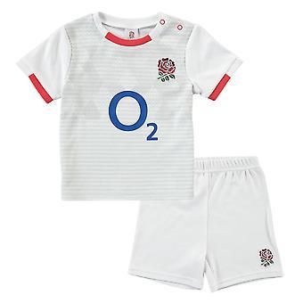 England RFU Rugby Baby/Toddler T-Shirt & Shorts Set | White | 2021