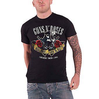 Guns N Roses T camisa aquí hoy y había ido al infierno la insignia oficial para hombre nuevo negro
