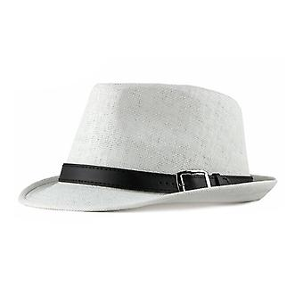 Mimigo Mens Packable Straw Hat Summer Beach Unisex Caps For Summer Cap Breathable Jazz Hats With Belt