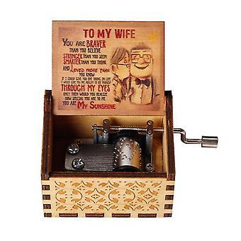 Antieke gesneden muziekdoos, Belle La Music Box Jurassic Park Godfather Hand Crank