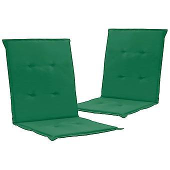 vidaXL chaise de jardin 2 pcs. vert 100 x 50 x 3 cm