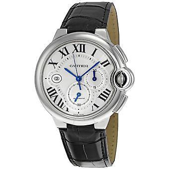 Cartier Ballon Bleu Black Alligator Strap Chronograph Men's Watch W6920003