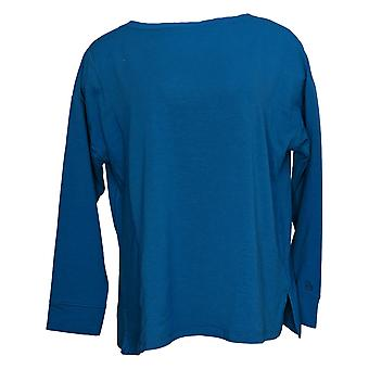 عناق دودس المرأة ملابس الراحة بواتيك Pullover الأعلى الأزرق A381694