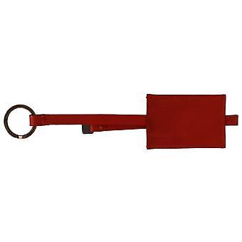 Traje Nacional Red Leather Branded Keyring Keychain