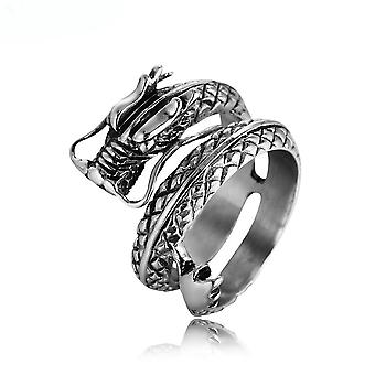 Dragon Zodiac Ring Titanium Steel Finger Ring For Daily Use