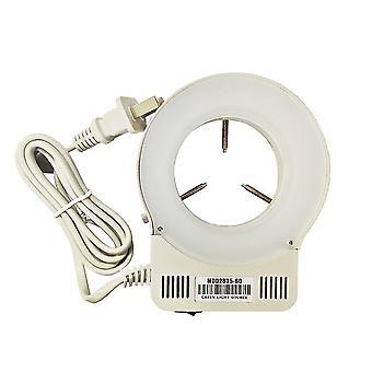 Industrial microscope 144 led adjustable brightness source dimmer ring light microscope illuminator lamp