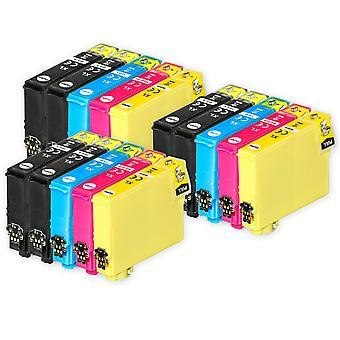 3 Sæt med 4 + ekstra sorte blækpatroner til erstatning for Epson 502XL+502XLBk-kompatibel/ikke-OEM fra Go-blæk (15 trykfarver)
