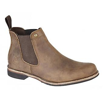 Woodland M031gb Mens Leather Chelsea Boots Brown