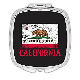 Gift Compact Mirror: California Flag