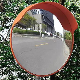 vidaXL المرور مرآة محدب PC البلاستيك البرتقالي 45 سم في الهواء الطلق