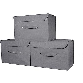 Gerui Premium Storage Box with lid. Extra wide handle-Improved strong, secure fastening-Suitable for