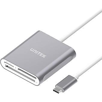 FengChun USB C SD-Kartenleser, Aluminium 3-Steckplatz USB 3.0 Typ C Flash-Speicherkartenleser fr