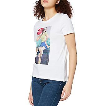 Bare ONLCOKE Life Reg S / S Retro Top Box Jrs_1 T-skjorte, Bright White, XS Kvinner