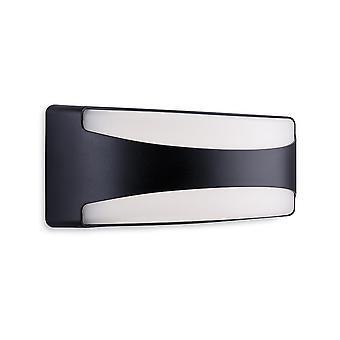 Firstlight Santos Outdoor Integroitu LED-huuhtelu seinävalo suorakulmio musta IP65